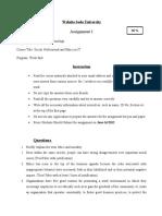 Assignment 1 ITSE