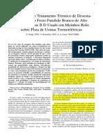 Tratamento térmico em ferro fundido branco alto cromo IID