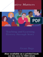 Narrative Matters - Dr Grant Bage