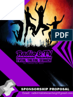 Attn Radio TV Entertainment Networking Event Talent Search Sponsorship Proposal