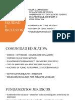 programa de EQUIDAD E INCLUSION
