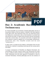 Day 2 - Academic Backing of Technocracy