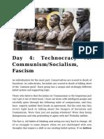 Day 4 - Technocracy vs. Communism_Socialism, Fascism