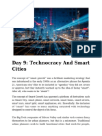 Day 9 - Technocracy and Smart Cities