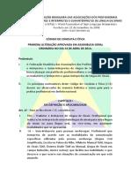 FEBRAPILS - CÓDIGO DE CONDUTA E ÉTICA (2014-17)