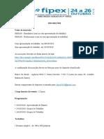 normas para submissão de trabalho 9 fipex