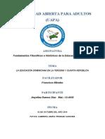 Tema Vi La Eduacion Dominicana en La Tercera y Cuarta Republica