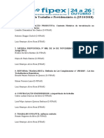 DATA DE APRESENTAÇÃO TRABALHOS APROVADOS 9 FIPEX TRABALHO