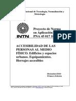 PNA 45 017 10 – Herrajes accesibles