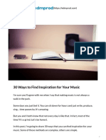 30 Ways to Find Inspiration for Your Music - EDMProd