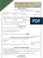 Λύσεις - Διαγώνισμα  1ου Τετραμήνου - Άλγεβρα - Α3