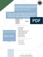 USO DE ANTIBIOTICOS EN INFECCION ABDOMINAL.pptx