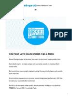 100 Next-Level Sound Design Tips & Tricks - EDMProd.pdf