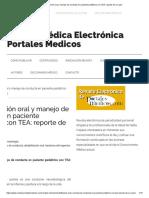 Rehabilitación oral y manejo de conducta en paciente pediátrico con TEA_ reporte de un caso