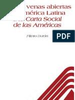 De Las venas abiertas de América Latina a la Carta Social de las Américas - Filinto Durán Chuecos