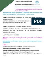 CEREMONIA DE GRADUACION 2018 2019