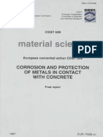 COST 509 CORROSION AND PROTECTION OF METALS IN CONTACT WITH CONCRETE