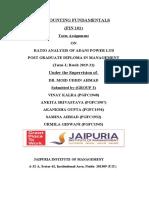 RATIO ANALYSIS OF ADANI POWER LTD