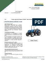 111.Cotización Tractor New Holland - TD.85F ROPS Mitsui Automotriz
