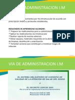 Administración medicamentos IM