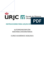 Manual Estudiante PREINSCRIPCION MASTERES UNIVERSITARIOS 2020_2021