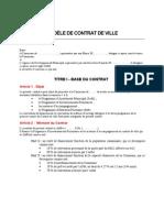 MODELE DE CONTRAT DE VILLE