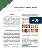 Self-similarity representation of weber faces for kinship classification