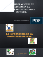 CONSIDERACIONES DE ESTUDIO EN LA PSICOLOGÍA EDUCATIVA INFANTIL 12