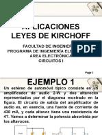 APLICACIONES LEYES DE KIRCHOFF Y LEY DE OHM