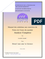 Exercices analyse Complexe licence L2