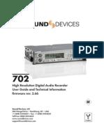 Gravador Digital Sound Devices 702