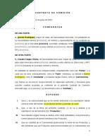 Machote Contrato de Comision - NOMBRE COMISIONISTA