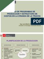 Diseño de Programa de Producción y Estructura de Costos en El Cultivo de Trucha.