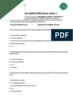 Examen INSPECCIÓN VISUAL NIVEL - 1.pdf