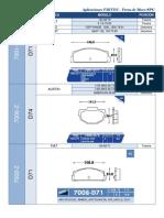 Catalogo balatas Fritec con imagenes y medidas