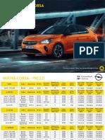 Listino della nuova Opel Corsa elettrica
