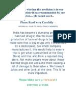banned medicine