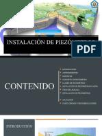 INSTALACIÓN DE PIEZÓMETROS
