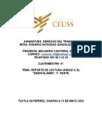 REPORTE DE LECTURA UNIDAD II EL SINDICALISMO, DERECHO DEL TRABAJO II