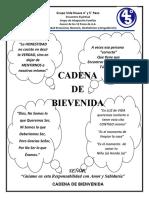 CADENA DE BIENVENIDA