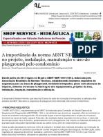 A importância da norma ABNT NBR 16071_2012 no projeto, instalação, manutenção e uso do playground pelo condomínio