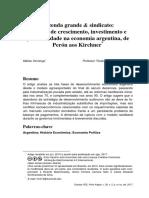 Fazenda grande & sindicato_ padrões de crescimento, investimento e produtividade na economia argentina, de Perón aos Kirchner