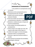 10 mandamentos do acampamento