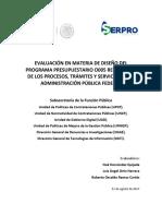 Diseño de la evaluación pública