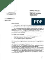 Lettre de M. Renaud Muselier  à M. Eugène Caselli, président de la Communauté Urbaine Marseille Provence Métropole