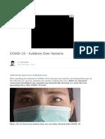 COVID-19 - Evidence Over Hysteria | Zero Hedge