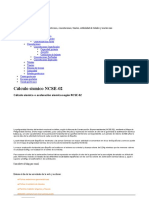 Cálculo sísmico o aceleración sísmica según NCSE-02