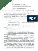 PORTARIA Nº 211 DE 11 DE ABRIL DE 2019 - Imprensa Nacional