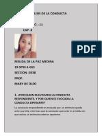 ANALISIS DE LA CONDUCTA.  EJERCICIO 11 CAP .8