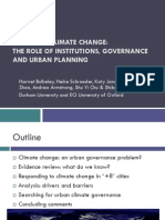 Bulkeley Cities and CC The role of institutions, governance and urban planning